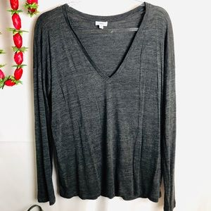 Vince Gray Long Sleeve Relaxed Shirt